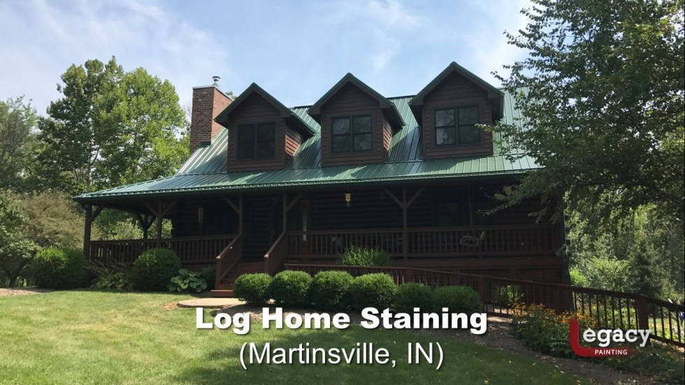 Log Home Staining - Martinsville Indiana