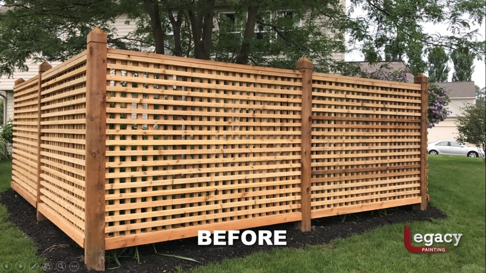 Decorative Cedar Fence Staining Contractor - Carmel Indiana 2