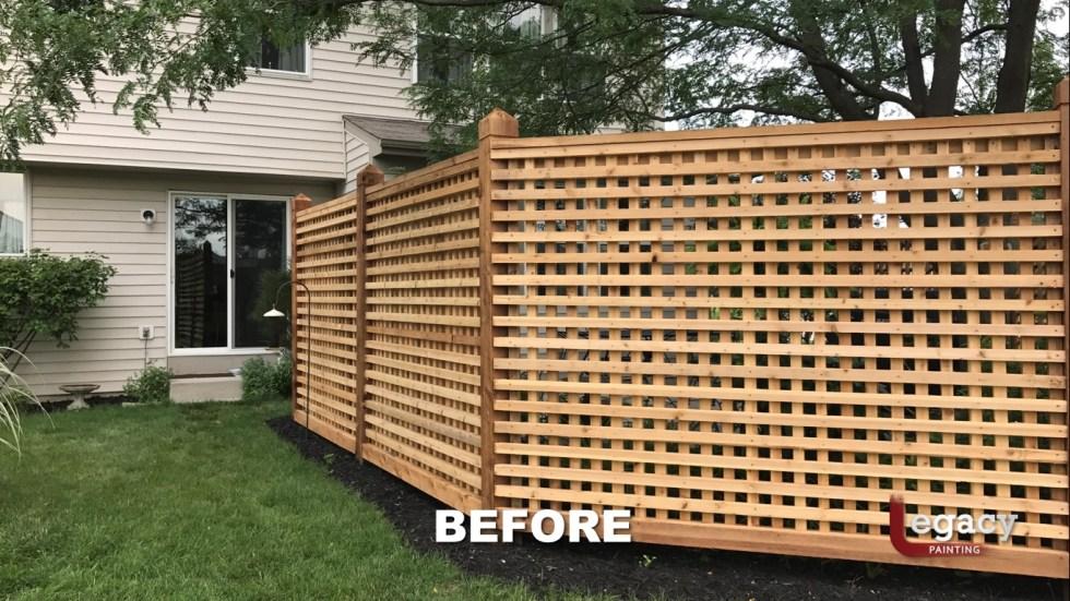 Decorative Cedar Fence Staining Contractor - Carmel Indiana 3