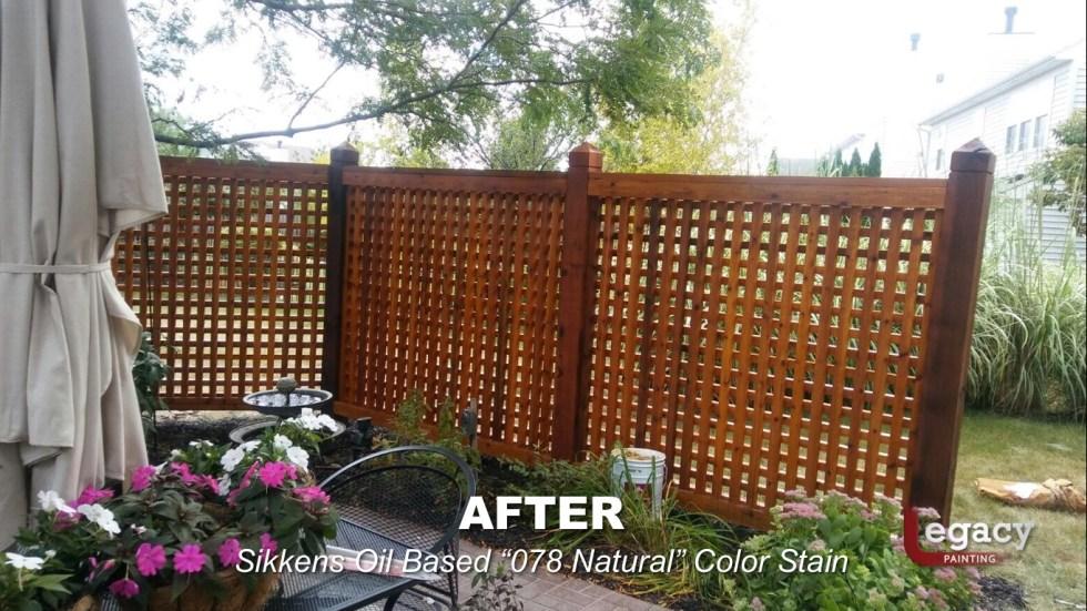 Decorative Cedar Fence Staining Contractor - Carmel Indiana 4