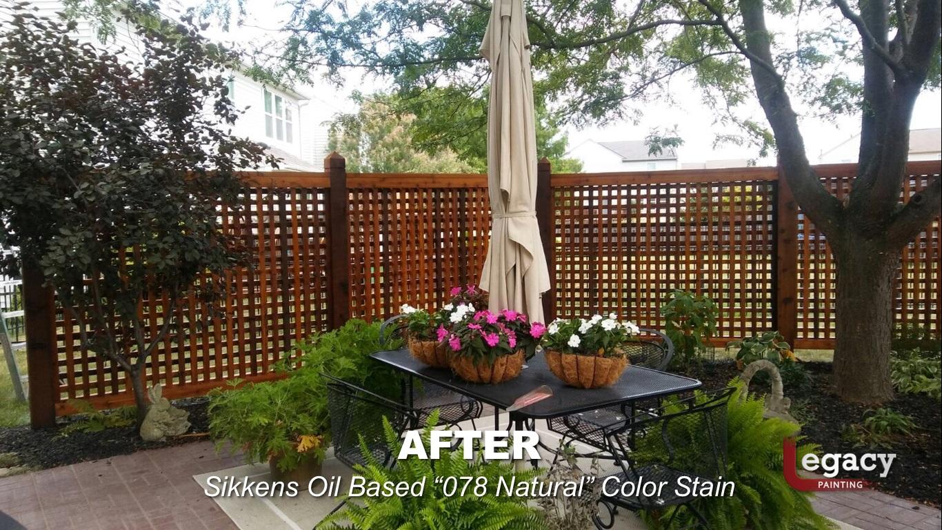 Decorative Garden Fence Staining