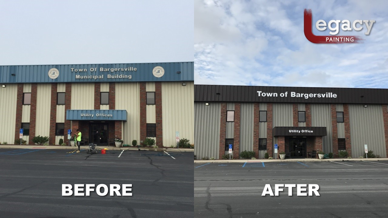 Bargersville Commercial Painting before after