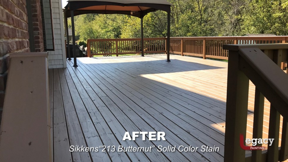 Plainfield Deck Staining - Butternut - Slide6