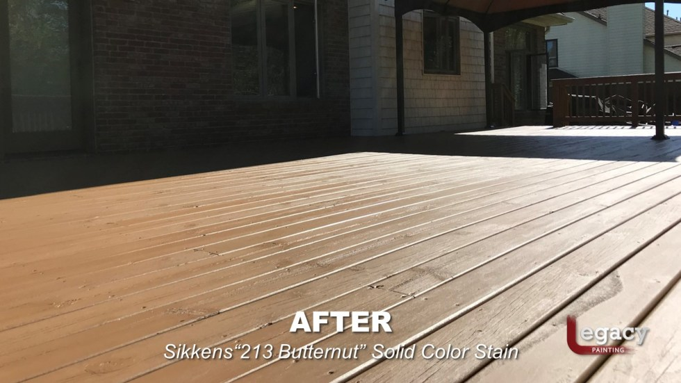 Plainfield Deck Staining - Butternut - Slide9