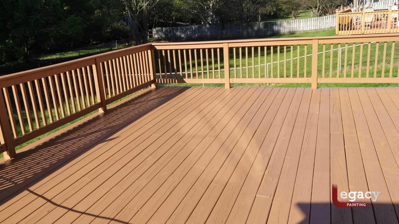 Plainfield Solid Color Deck Staining - Butternut