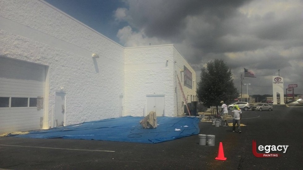 Commercial Painting - Muncie Toyota 2
