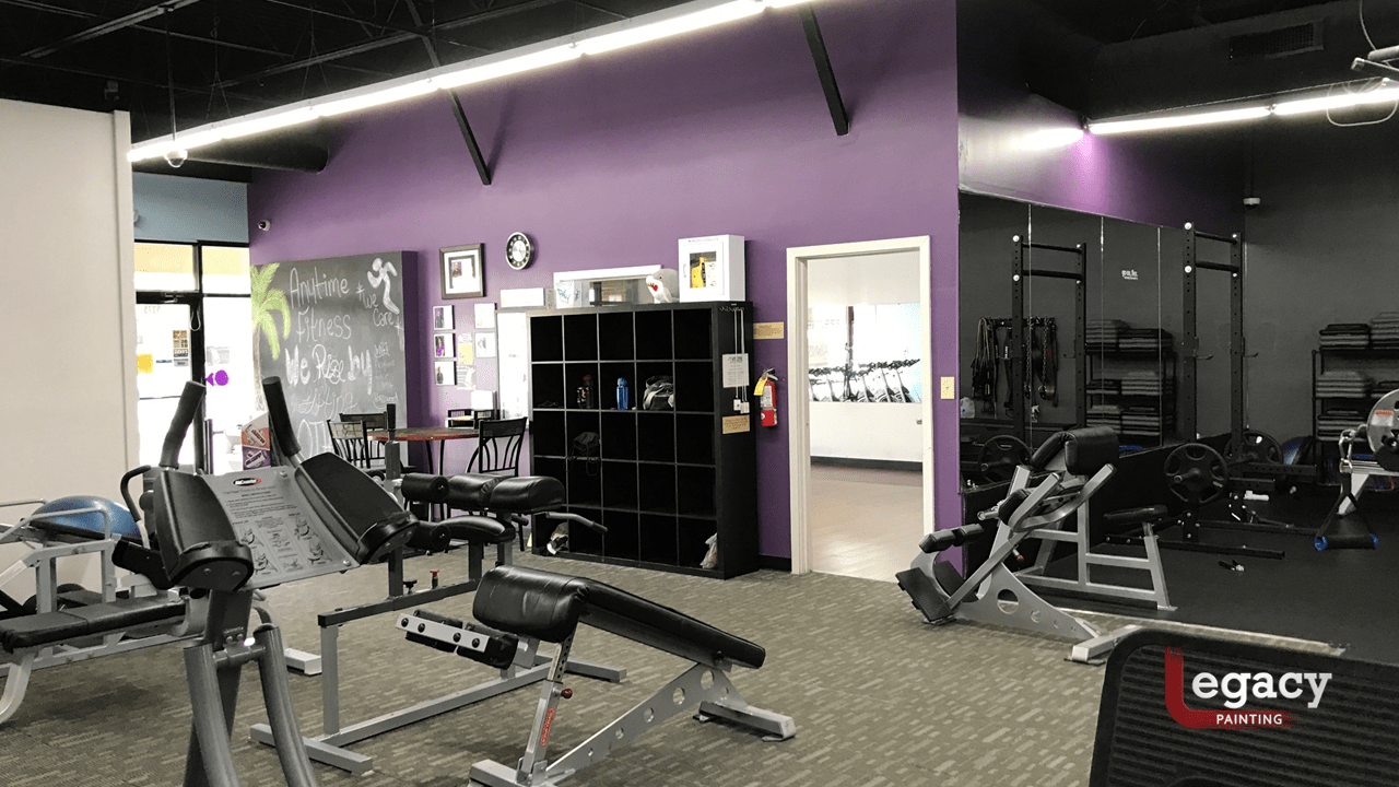 anytime fitness interior painting