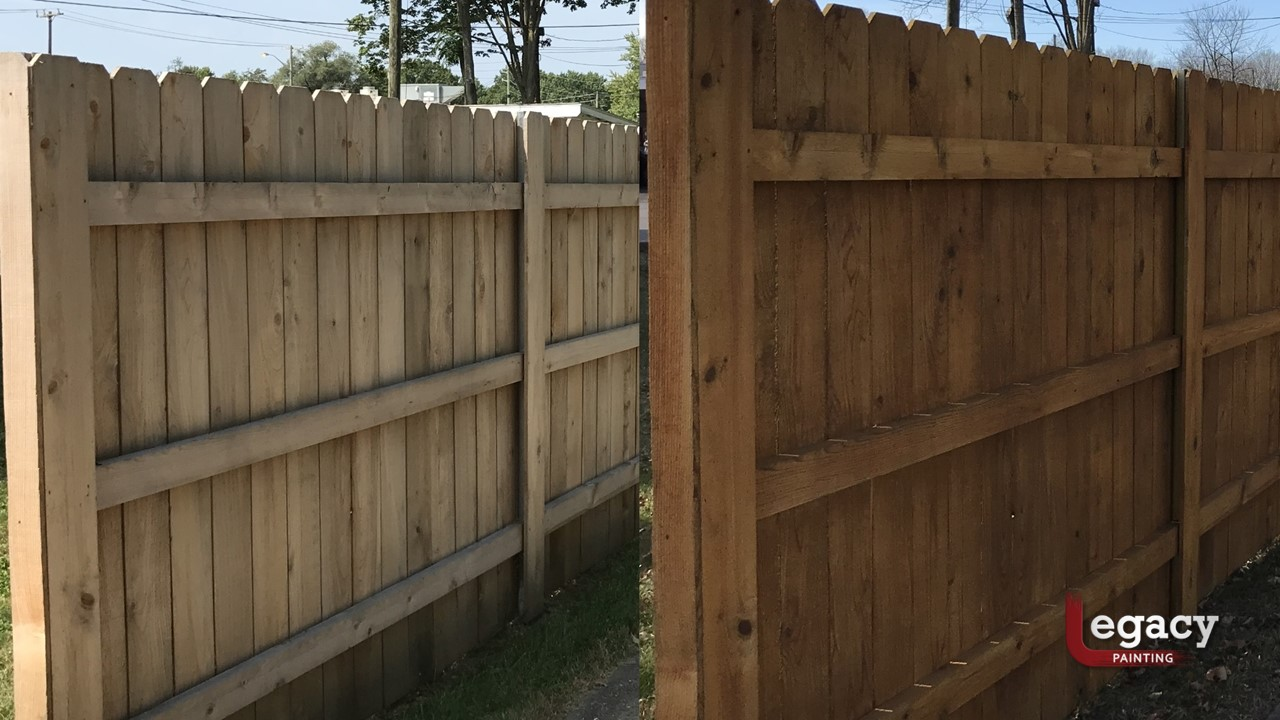Broad Ripple Fence Staining