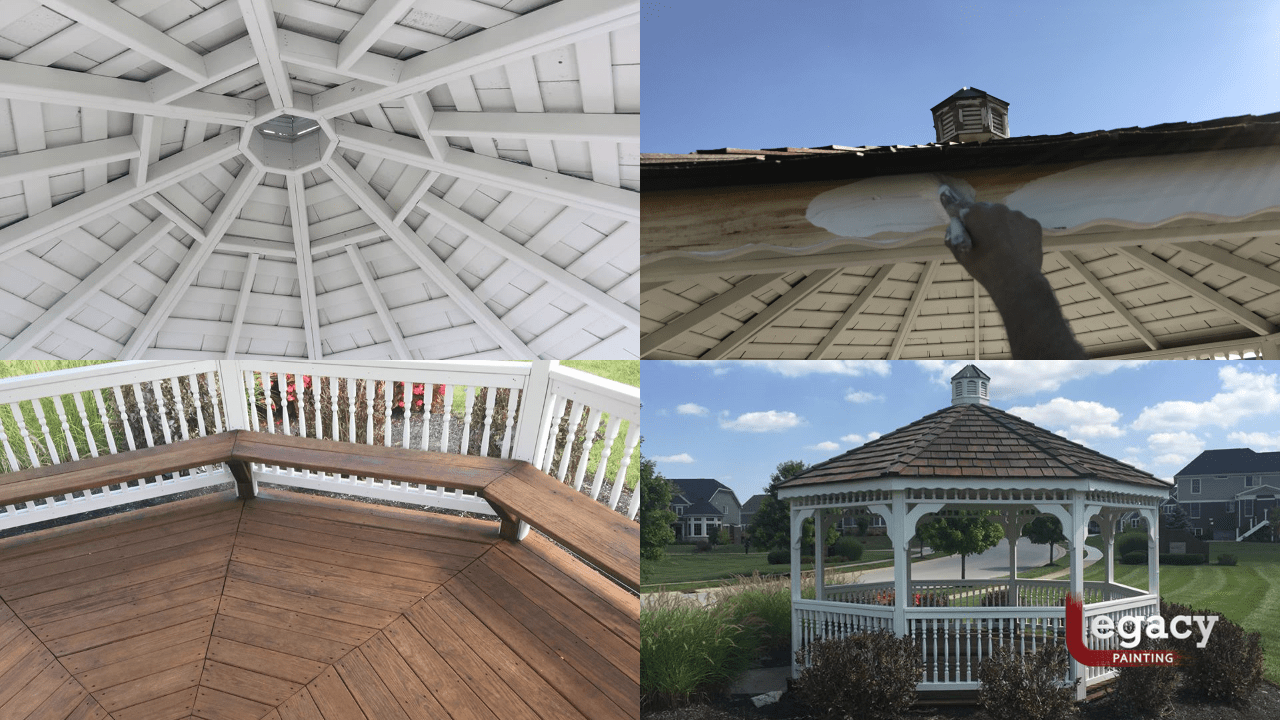 slater farms gazebo painting and staining