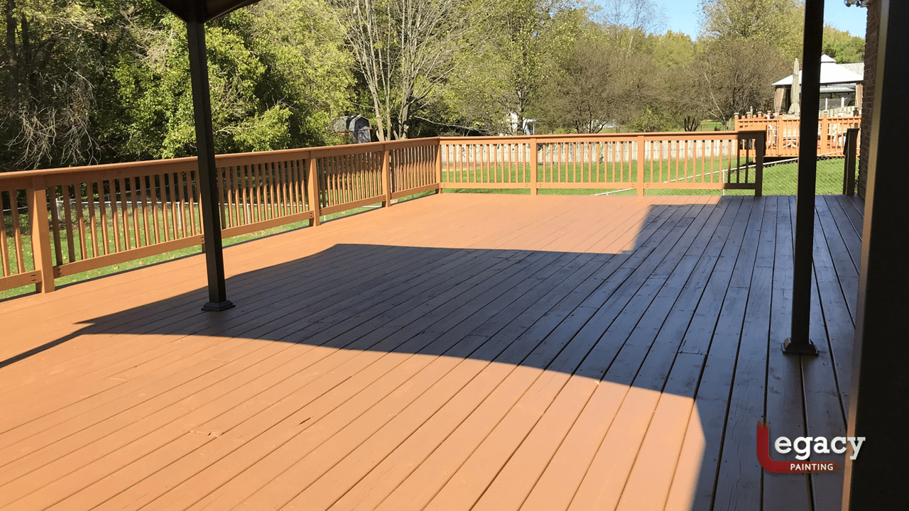 solid color butternut deck staining
