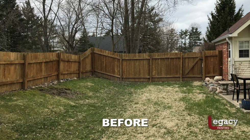 Fence Staining - Proluxe Chestnut Brown Solid Stain - Fishers In 3