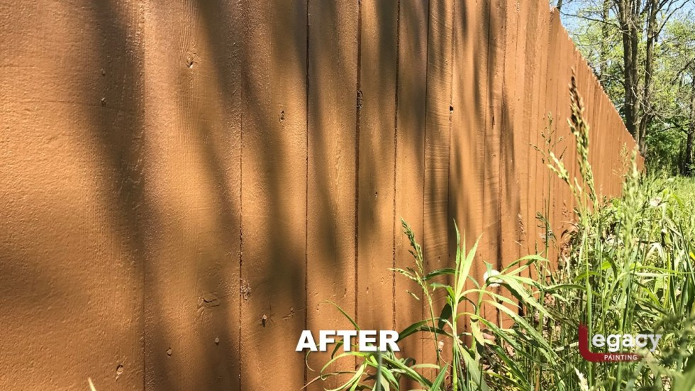 Fence staining chestnut brown fishers in legacy painting - Chestnut brown exterior gloss paint ...