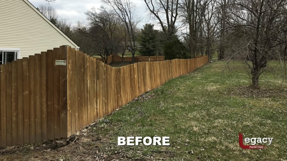 Fence Staining - Proluxe Chestnut Brown Solid Stain - Fishers In 7