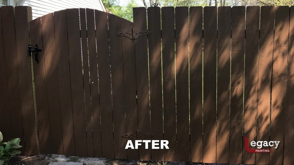 Fence Staining - Proluxe Chestnut Brown Solid Stain - Fishers In 9