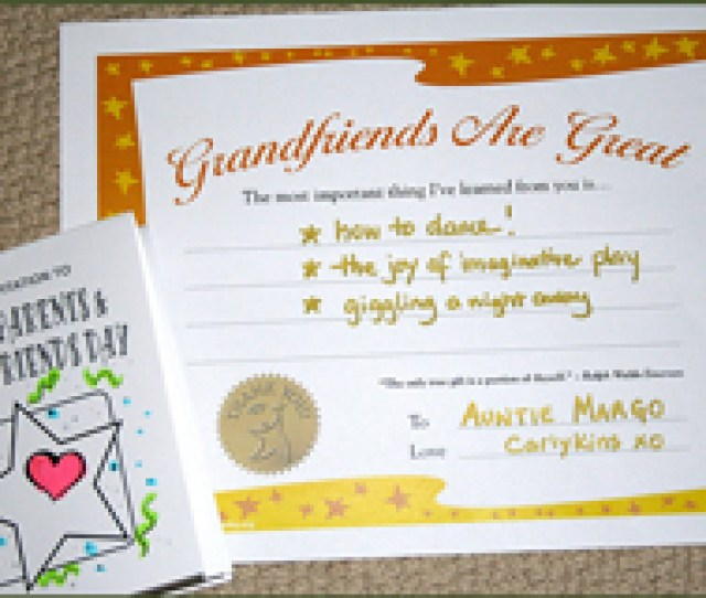 Grandparents Day Planning Activity Guide Www Legacyproject Org