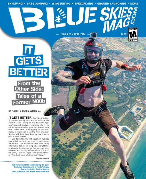 Blue Skies Magazine i53: April 2014 | Matt Hill geeking the camera during the 2014 Pachanga Beach Boogie in Puerto Vallarta, Mexico, hosted by SkydiveMex. Photo by Norman Kent • www.normankent.com. | blueskiesmag.com