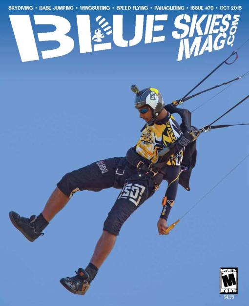 Blue Skies Magazine i70: October 2015 | Abdulbari Qubaisi lands during the 8th World Cup of Canopy Piloting, hosted by Parachutisme Nouvel Air in Farnham, Canada. Photo by Laura Golly, Performance Designs. | blueskiesmag.com