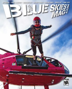 Blue Skies Magazine i87: March 2017   On the cover: Leah Levy at Skydive Sebastian during the Spread the Love Boogie. Photo by David Cherry facebook.com/dsquaredskydiving.   https://blueskiesmag.com/project/i87-march-2017/