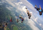 Blue Skies Magazine i94: October 2017 | Centerfold: Stacking jump above Start Skydiving! in Middletown, Ohio. Photo by Tyler Roemer facebook.com/CollectivePitch | https://blueskiesmag.com/project/i94-october-2017