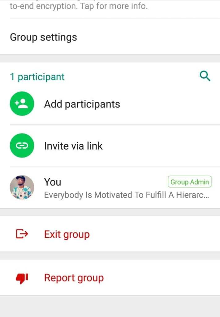 Remove group participants