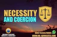 Necessity coercion prohibitions criminal liability - UAE Penal Code