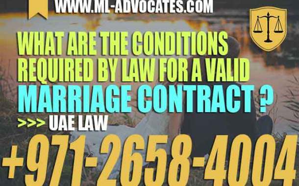 What are the conditions required by law for a valid marriage contract?