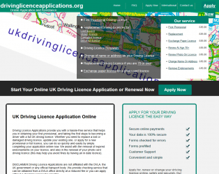 Driving Licence 3rd Party Website