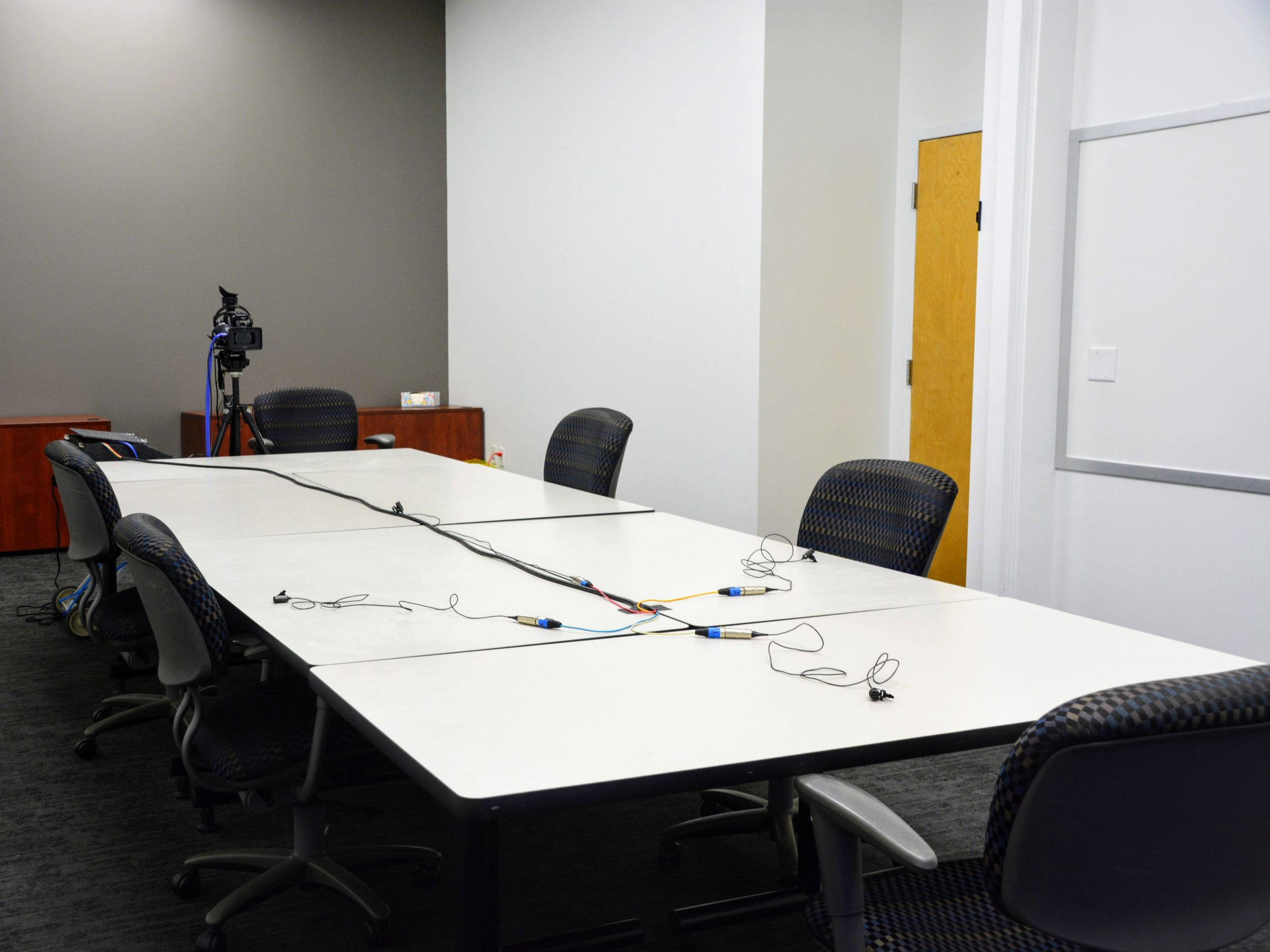 Large conference room for attorneys and legal proceedings