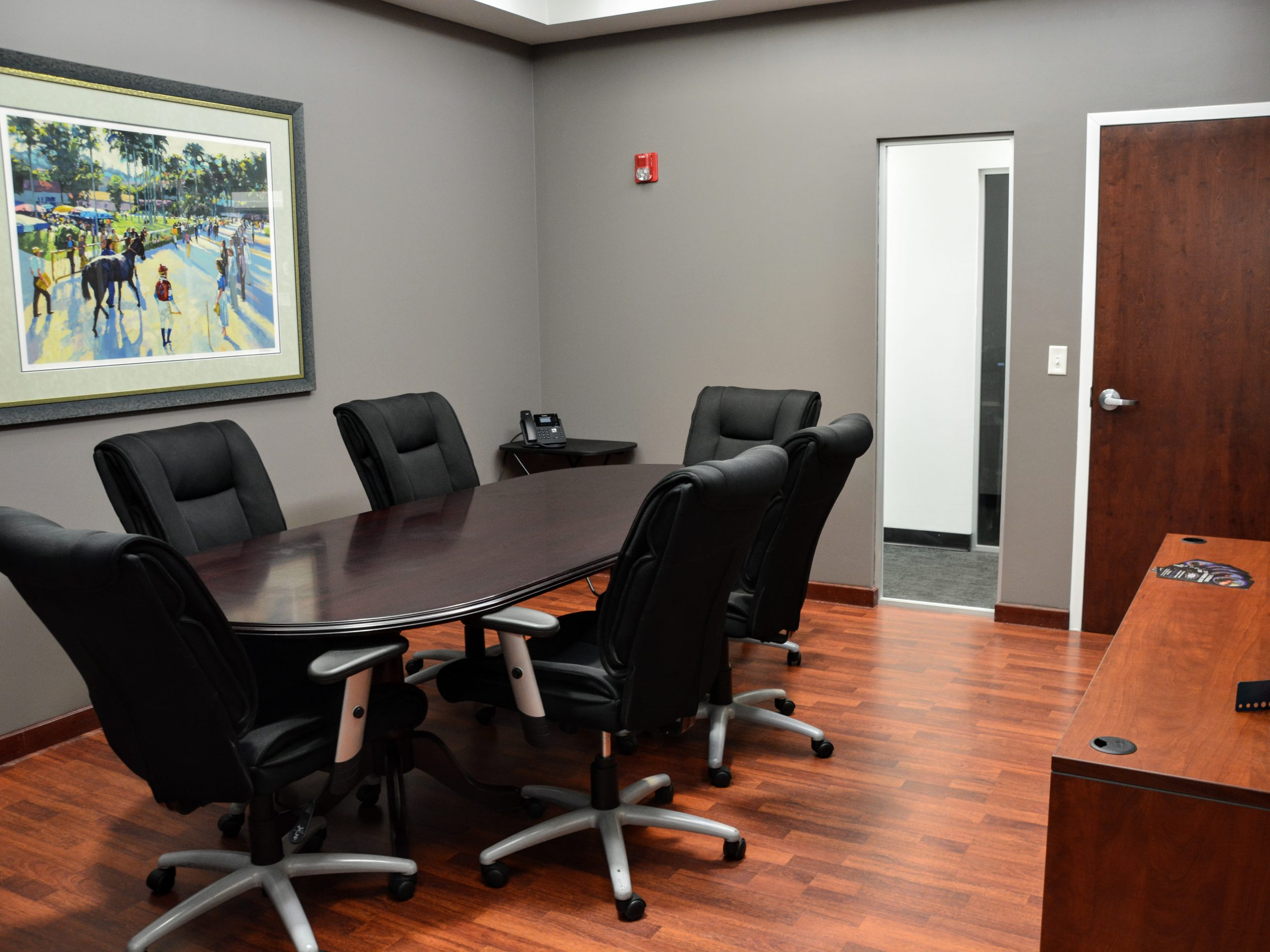 Conference room for attorneys and legal proceedings