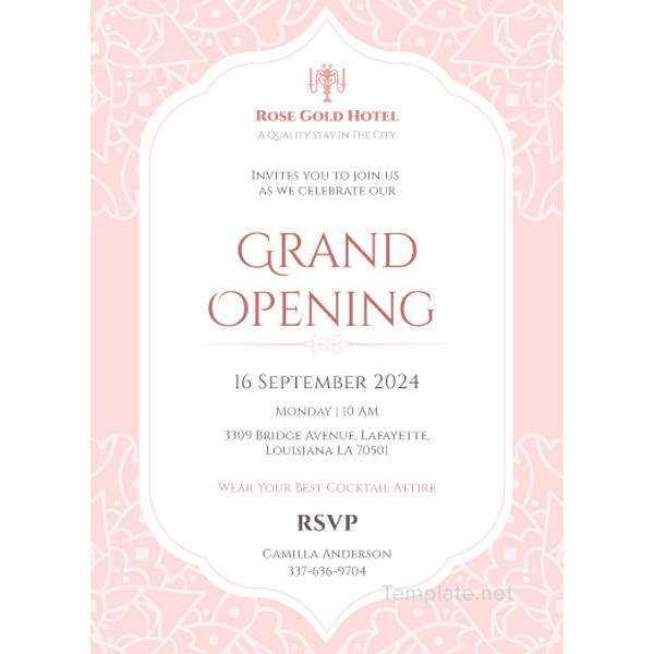 53 create invitation card sample grand