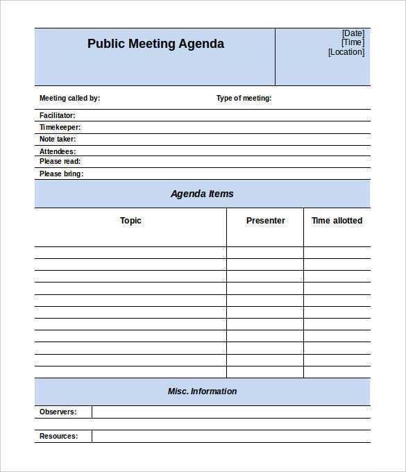 An outline structure helps guide the meeting's direction so that you don't jump from one topic to another, allowing business to be. 62 Free Meeting Agenda Template 2018 Download For Meeting Agenda Template 2018 Cards Design Templates