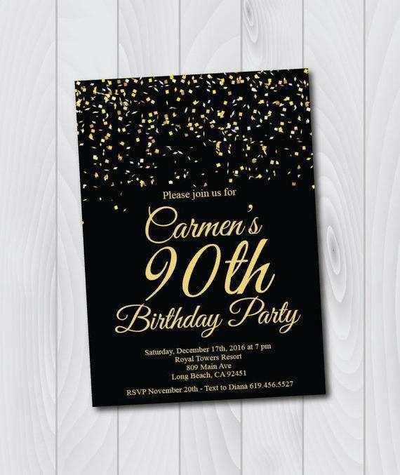 68 free printable 90th birthday card