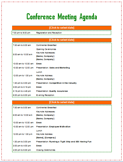 Here are some steps you can take when setting a meeting agenda. 69 Online Conference Agenda Template Word Maker By Conference Agenda Template Word Cards Design Templates