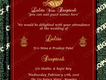 83 format indian wedding card templates
