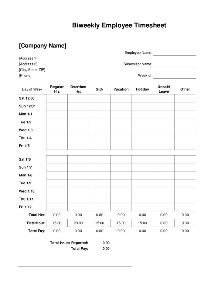 Download and print our time sheet template (excel, pdf, google sheets) to track weekly employee hours worked. 85 Create 2 Week Time Card Template Psd File By 2 Week Time Card Template Cards Design Templates