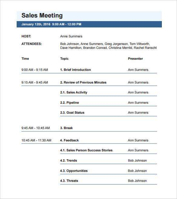 Learn how to create/design/make a minimalist meeting agenda document/template using microsoft word. 99 Online Meeting Agenda Template Word Layouts With Meeting Agenda Template Word Cards Design Templates