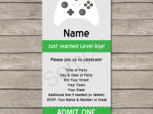 video game birthday invitation template