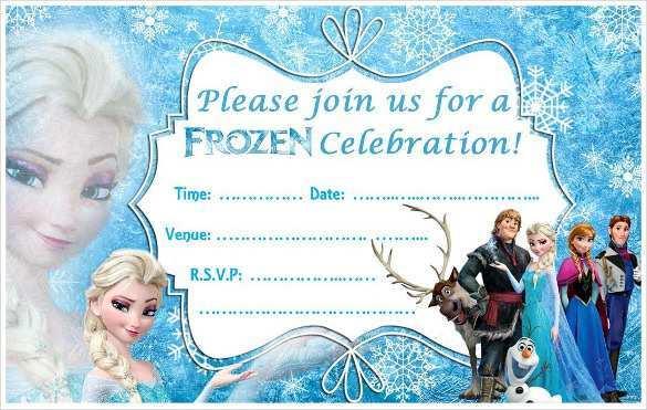 30 online frozen birthday invitation