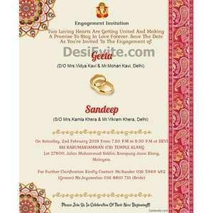 37 free indian engagement invitation