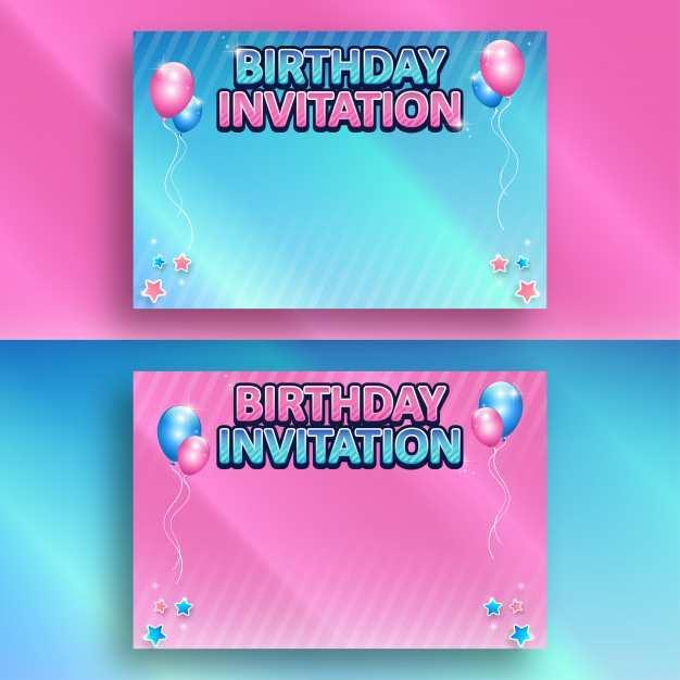 43 free birthday invitation background