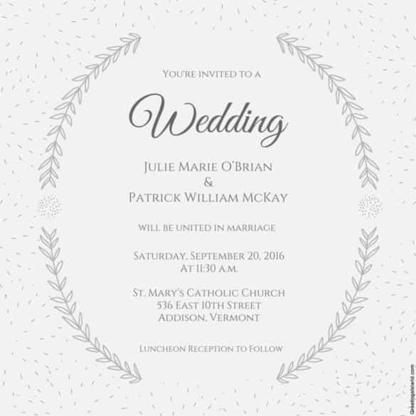 47 blank wedding invitation template