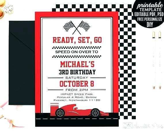 68 free race car birthday invitation