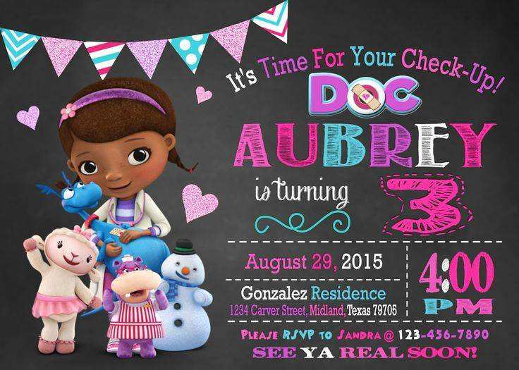 68 printable doc mcstuffins birthday