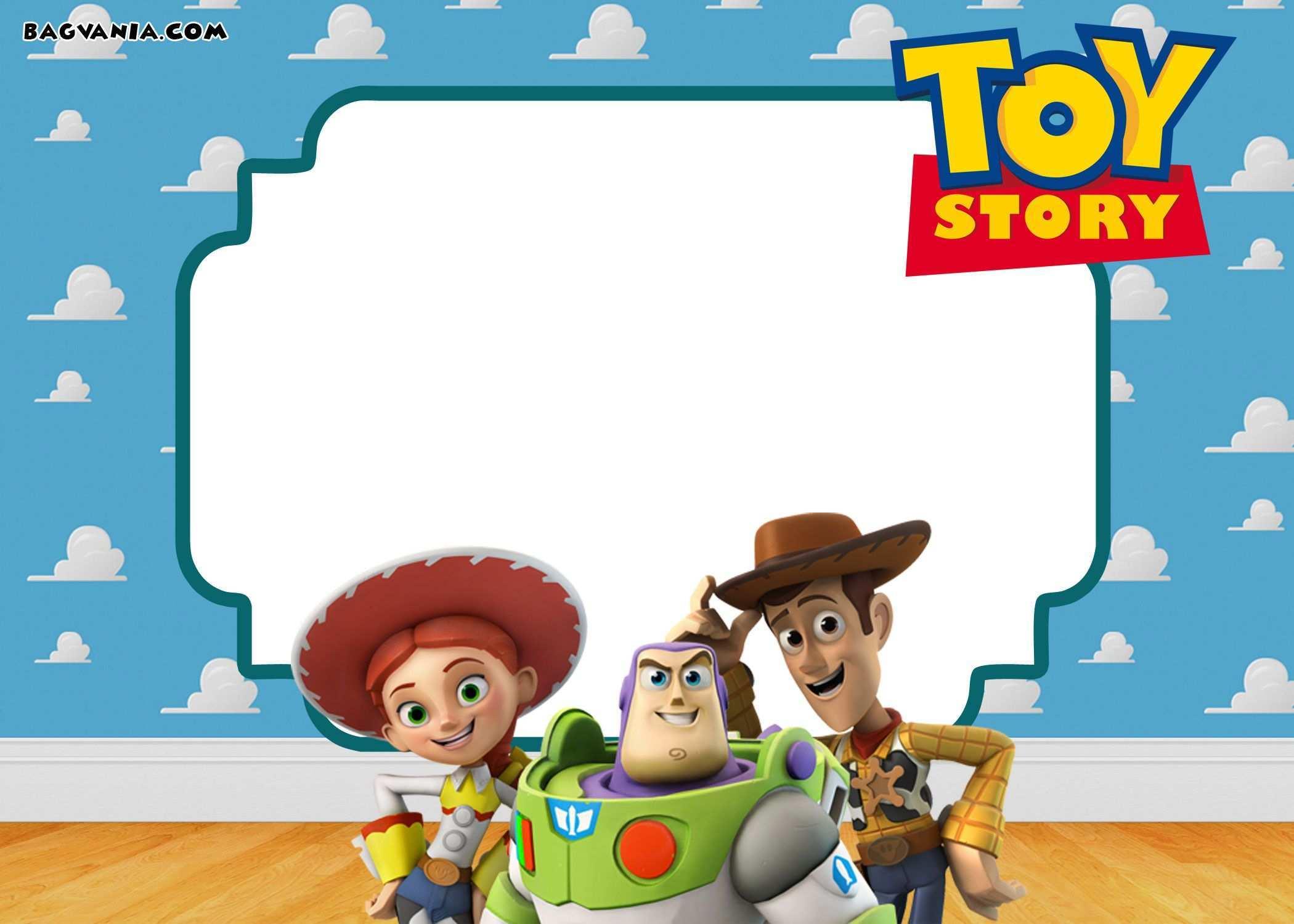 71 blank toy story birthday invitation