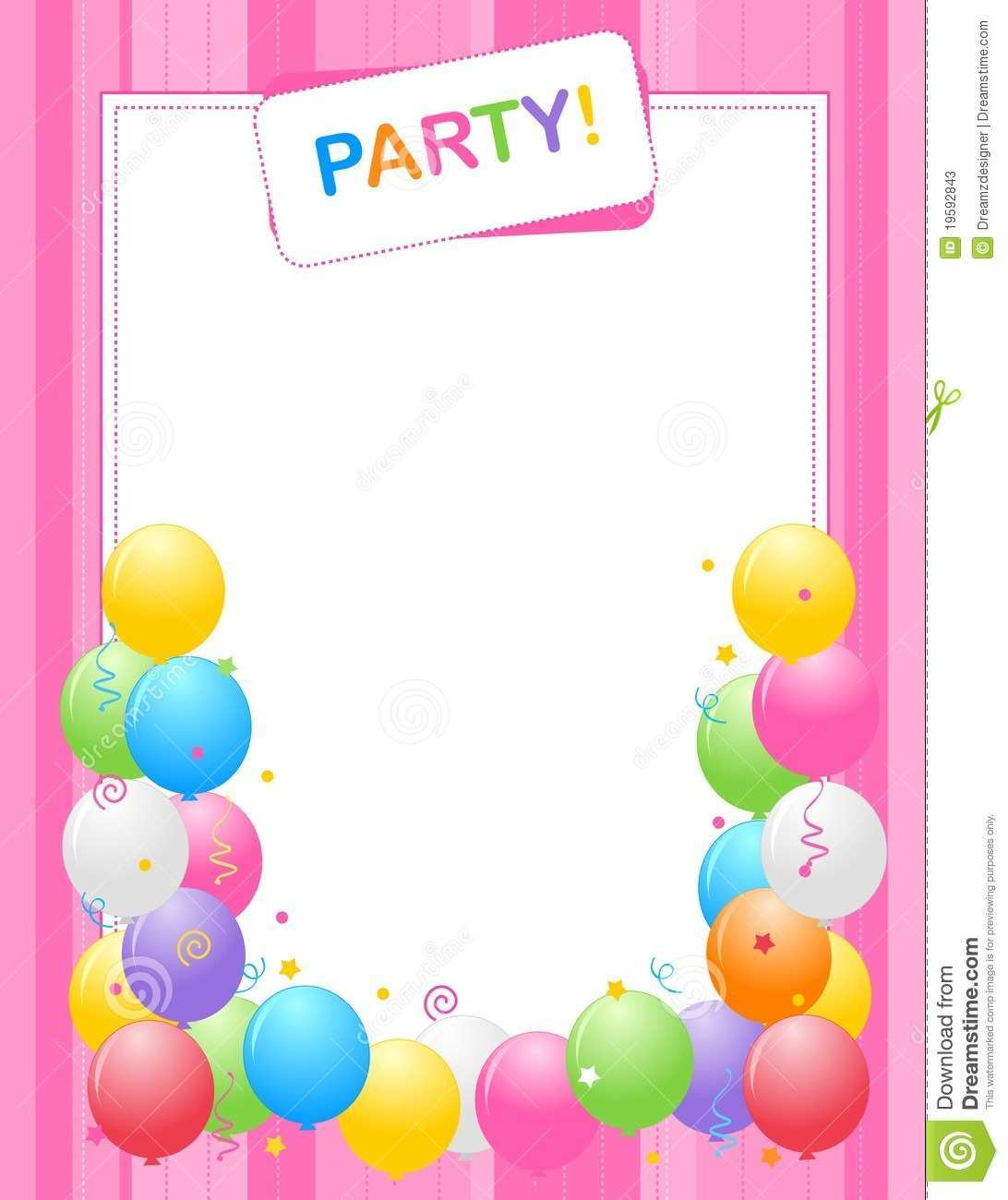 birthday invitation background designs