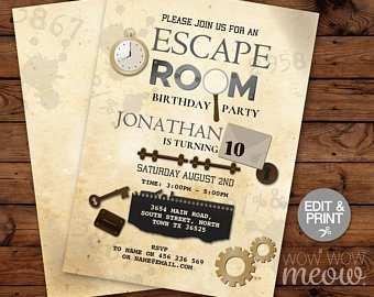88 online escape room birthday