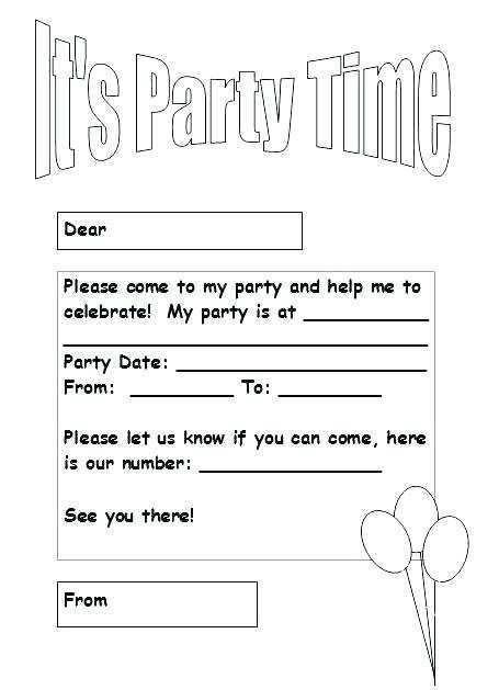 89 blank birthday invitation template