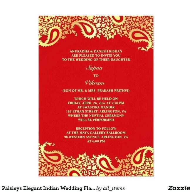96 printable indian wedding invitation