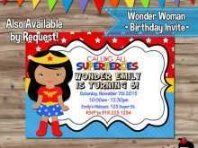 wonder woman party invitation template