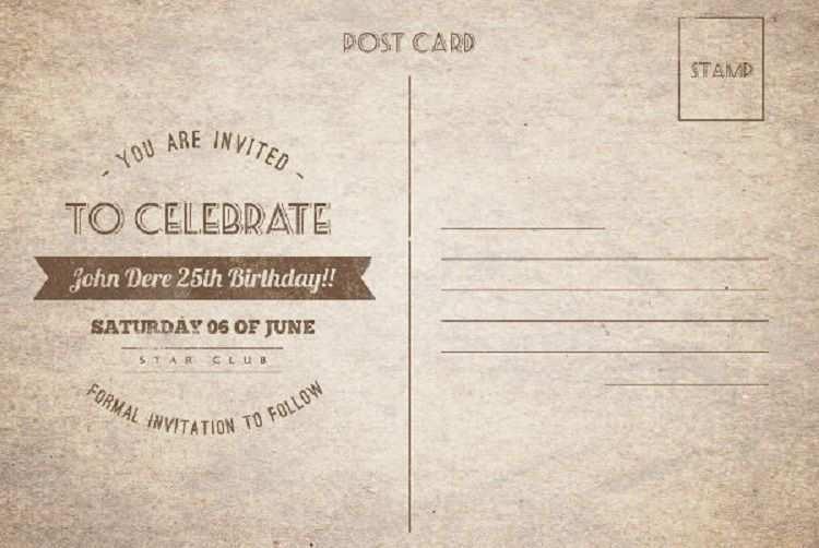 25 online vintage birthday invitation